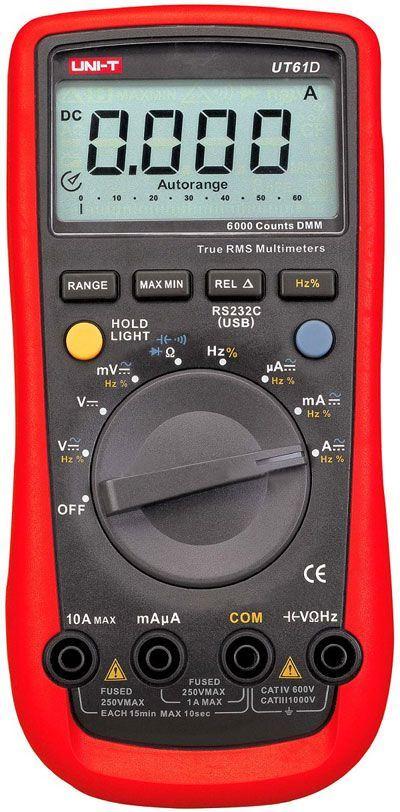 Multimetr UT61D UNI-T,automat,USB-optické, TRUE RMS