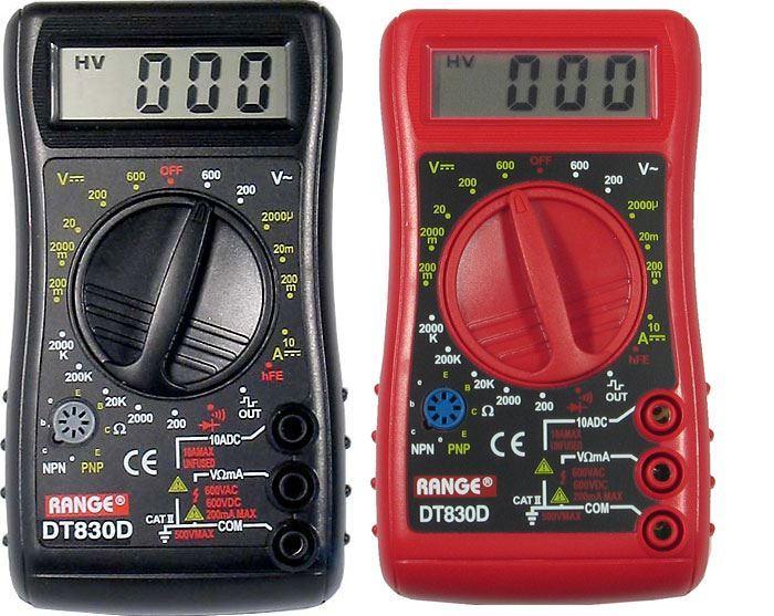 Multimetr DT830D RANGE vadný