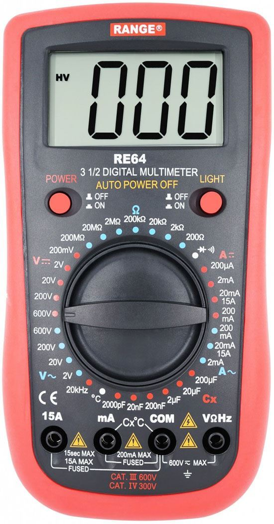 Multimetr RE64 RANGE, použitý, vadný proudový rozsah