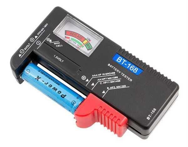 Tester baterií - BT-168, R3, R6, R20, R14, 9V