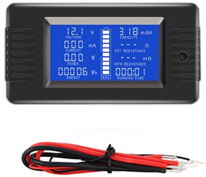 Chytrý tester baterií PZEM013, rozsah 0-200V, 0-10A