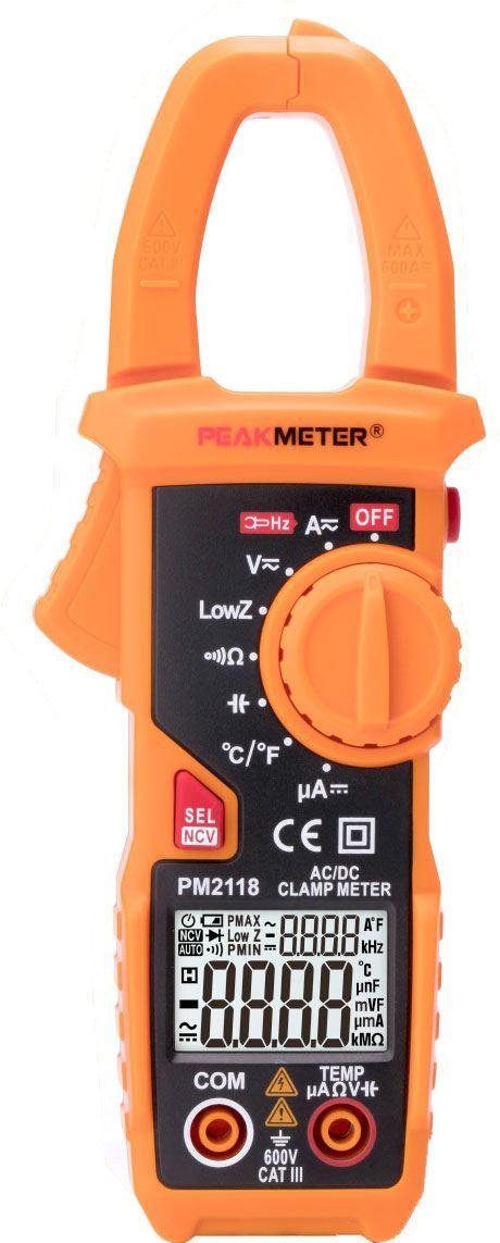 Multimetr PeakMeter PM2118 klešťový AC/DC
