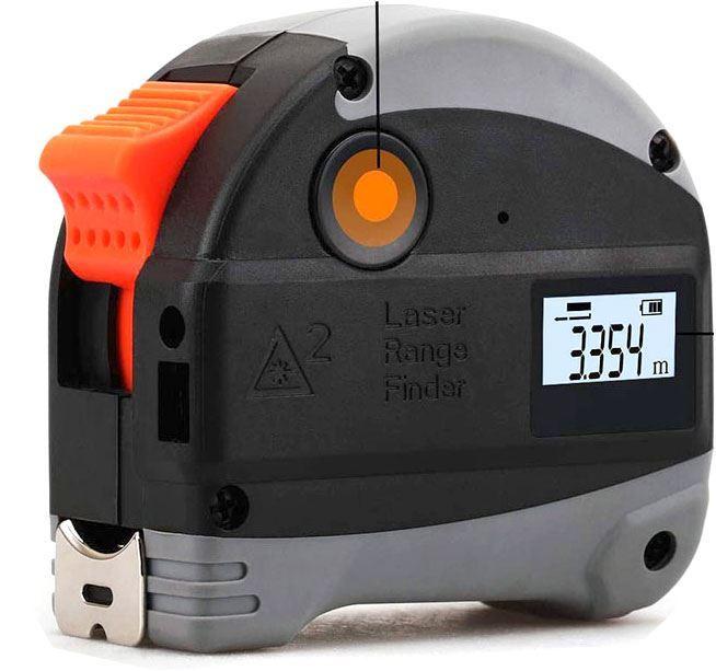 Svinovací metr s laserovým dálkoměrem Nasitra 5m+30m