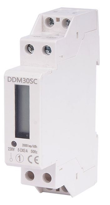 Elektroměr DDM30SC 1 fázový na DIN lištu