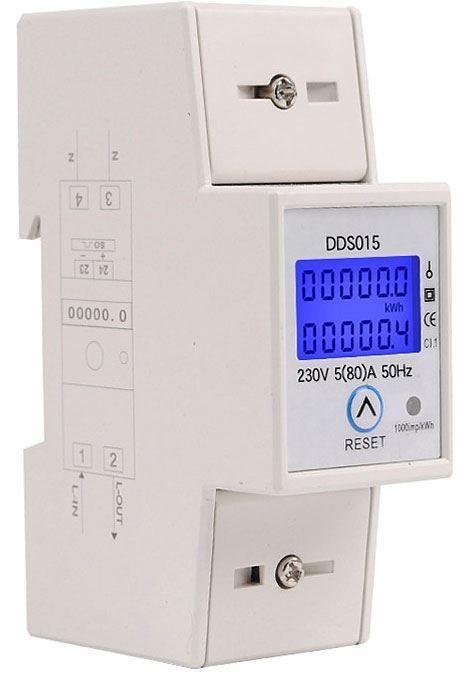 Elektroměr DDS015, 1 fázový na DIN lištu
