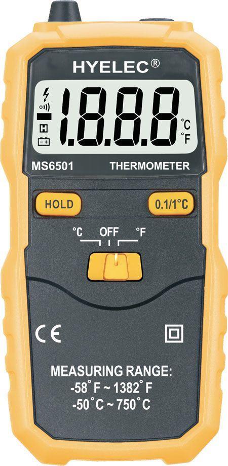 Teploměr HYELEC MS6501 -50~750°C