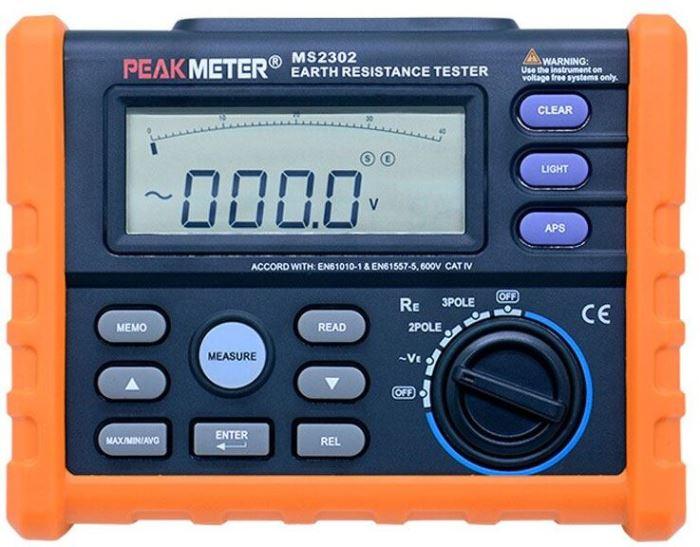Tester zemního odporu PEAKMETER PM2302 /MS2302/