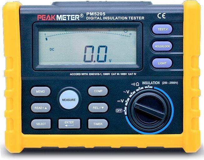Měřič izolačního odporu HYELEC MS5205 /2500V/