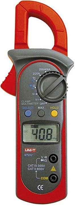 Multimetr UT202 AC klešťový, automat, UNI-T