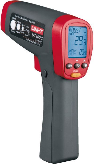 Teploměr bezkontaktní UT302C UNI-T -32~650°C, USB, nespolehlivé měř.