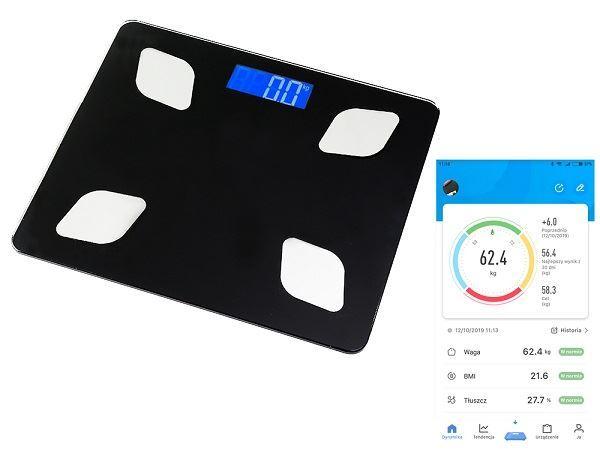 Analytická osobnÍ digitálnÍ váha s bluetooth