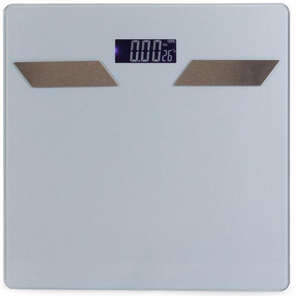 Osobní váha Bluetooth s teploměrem do 180kg, šedá