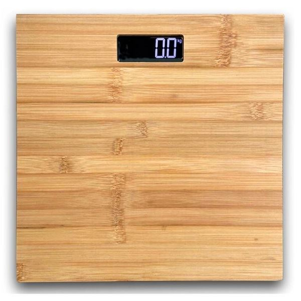 Osobní váha do 180kg, sklo, bambus