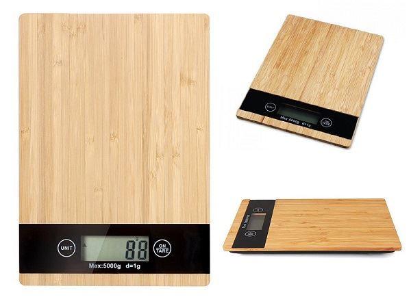 Kuchyňská váha do 5 kg, bambus