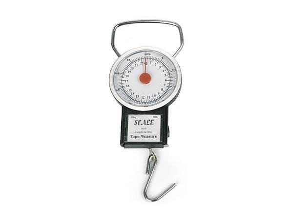 Analogová závěsná váha do 35 kg s metrem
