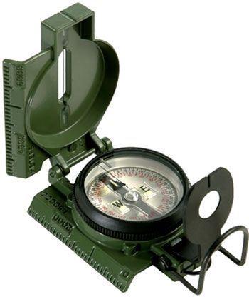 Vojenský kompas s buzolou