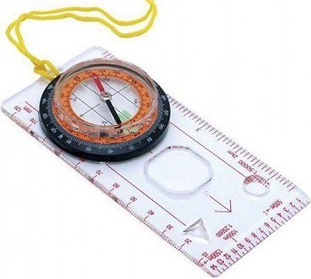 Kompas - buzola s pravítkem a lupou