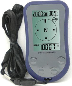 Digitální kompas WS110 s výškoměrem, teploměrem a hodinami, DOPRODEJ