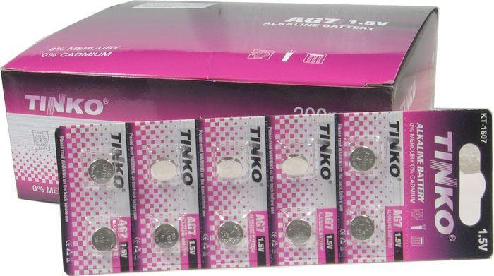 Baterie TINKO LR45(AG9,LR936,394) alkalická, balení 200ks