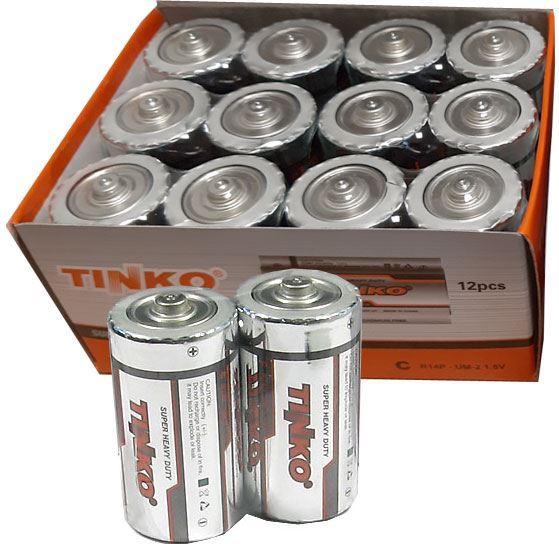 Baterie TINKO 1,5V D(R20) Zn-Cl, balení 12ks
