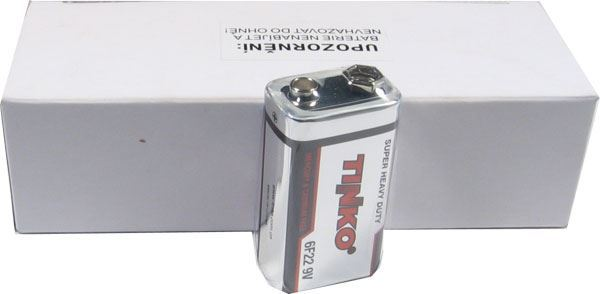 Baterie TINKO 9V 6F22, Zn-Cl, balení 10ks