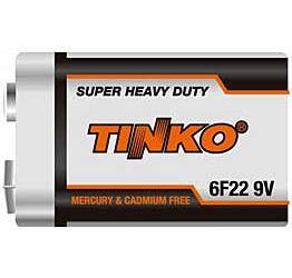 Baterie TINKO 9V 6F22, Zn-Cl