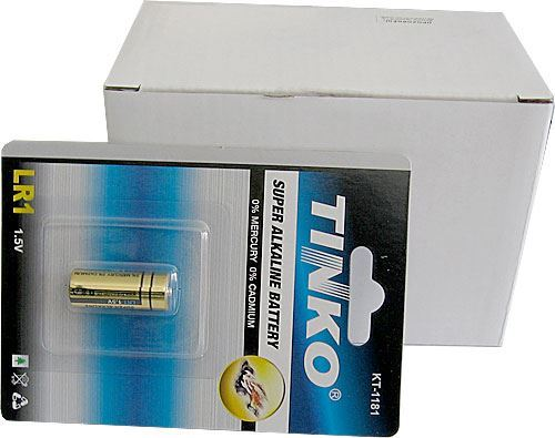 Baterie TINKO 1,5V LR1 alkalická, balení 10ks