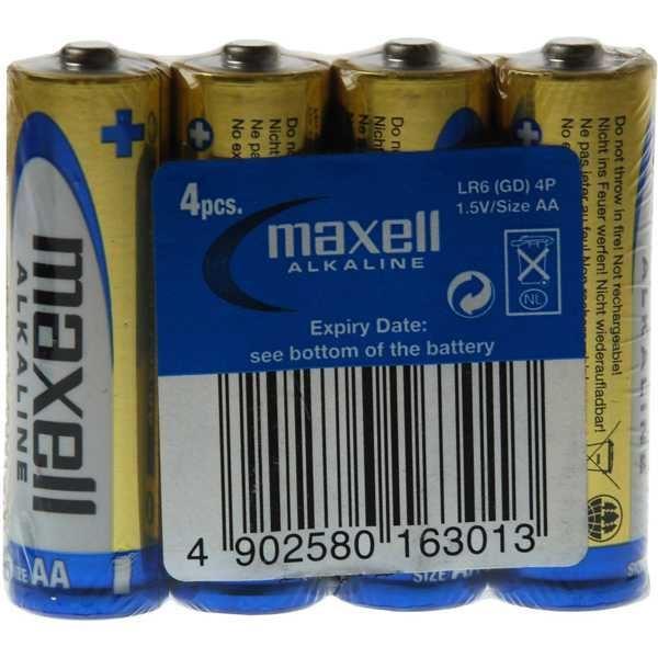 Baterie MAXELL 1,5V AA(LR6) 4S ALK, balení 4ks