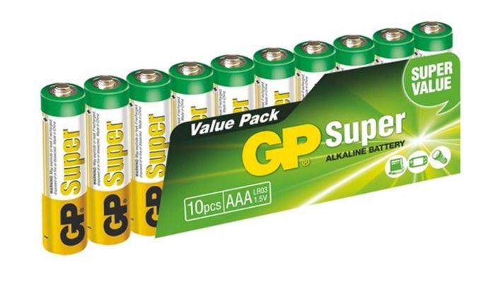 Baterie GP 1,5V AAA (LR03) alkalická, balení 10ks ve fólii