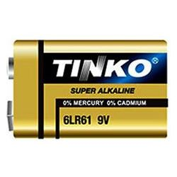 Baterie TINKO 9V 6LR61 alkalická, baleno v blistru