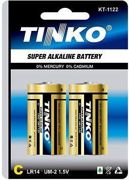 Baterie TINKO 1,5V C(LR14) alkalická, 2ks v blistru