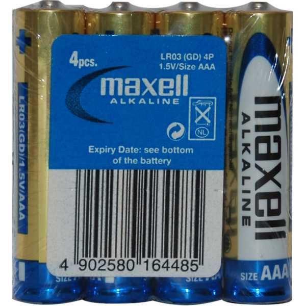 Baterie MAXELL 1,5V AAA(LR03), balení 4ks MAXELL