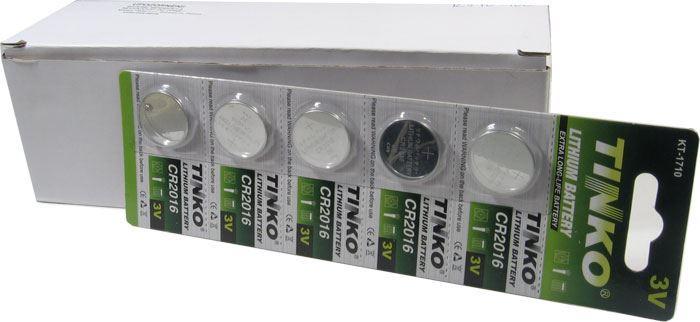 Baterie TINKO CR2016 3V lithiová, balení 100ks