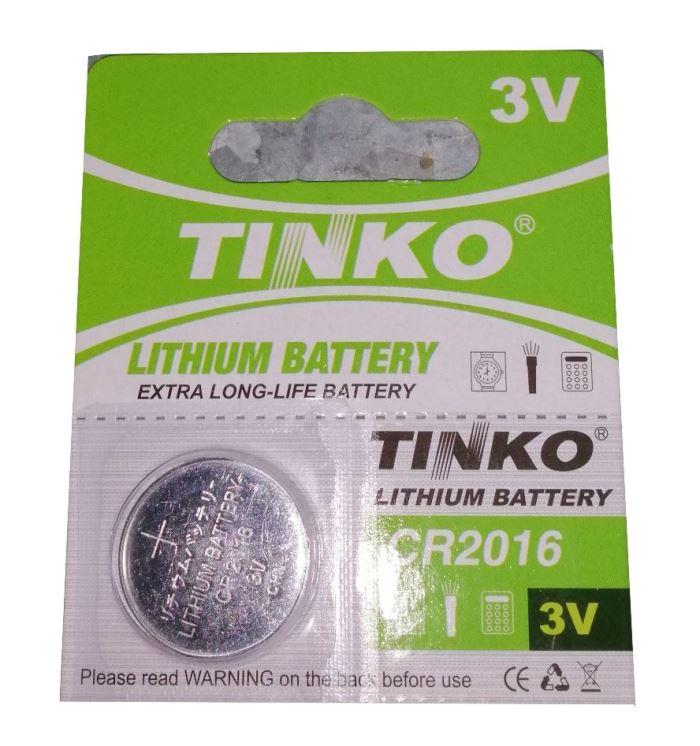 Baterie TINKO CR2016 3V lithiová, blistr