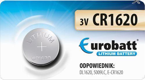 Baterie EUROBATT CR1620 3V lithiová