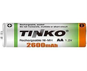 Nabíjecí článek NiMH AA 1,2V/2600mAh TINKO
