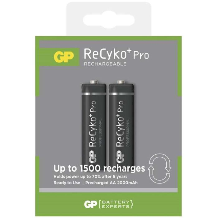 Nabíjecí baterie NiMH GP AA Recyko+ (2000mAh) - 2ks