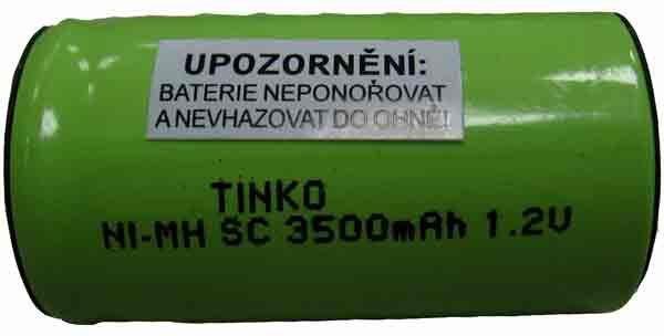 Nabíjecí článek NiMH SC 1,2V/3500mAh TINKO, páskové vývody