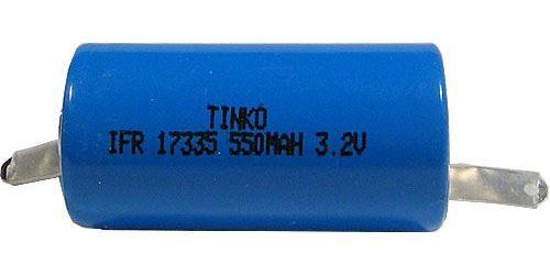 Nabíjecí článek Li-Ion IFR17335 (RCR123) 3,7V/550mAh TINKO