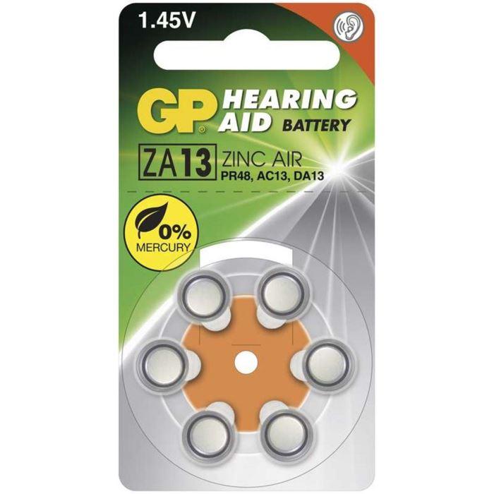 Baterie ZA13-GP do naslouchadel 1,4V/ 290mAh, balení 6ks