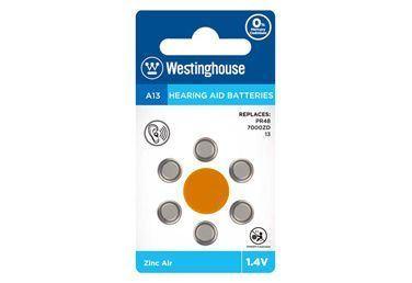 Baterie A13-BP6 do naslouchadel 1,4V balení 6ks Westinghouse