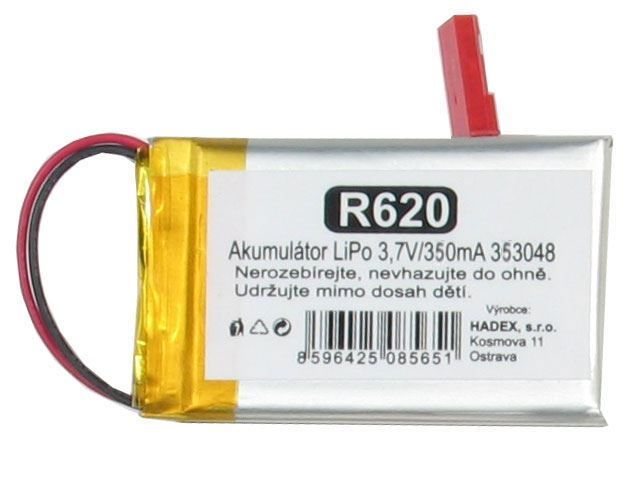 Akumulátor LiPo 3,7V/330mA 303048 /Nabíjecí baterie Li-Pol/