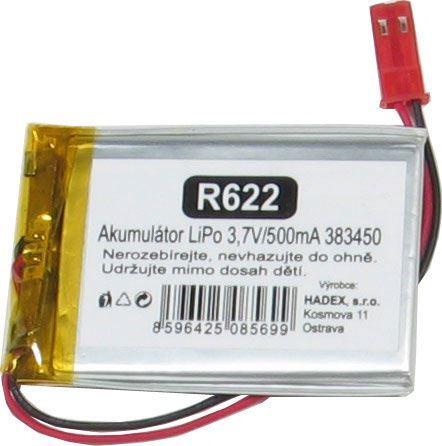 Akumulátor LiPo 3,7V/650mAh 383450 /Nabíjecí baterie Li-Pol/