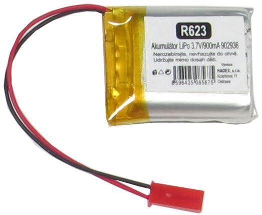 Akumulátor LiPo 3,7V/900mAh 902936 /Nabíjecí baterie Li-Pol/