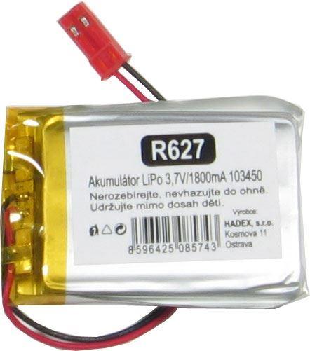 Akumulátor LiPo 3,7V/1800mAh 103450 /Nabíjecí baterie Li-Pol/