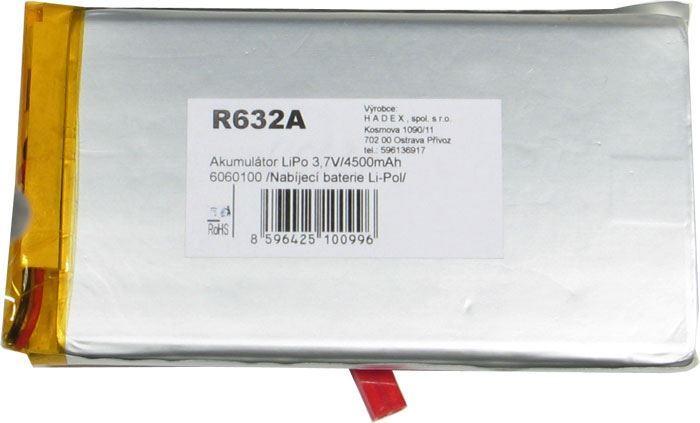 Akumulátor LiPo 3,7V/4500mAh 6060100 /Nabíjecí baterie Li-Pol/