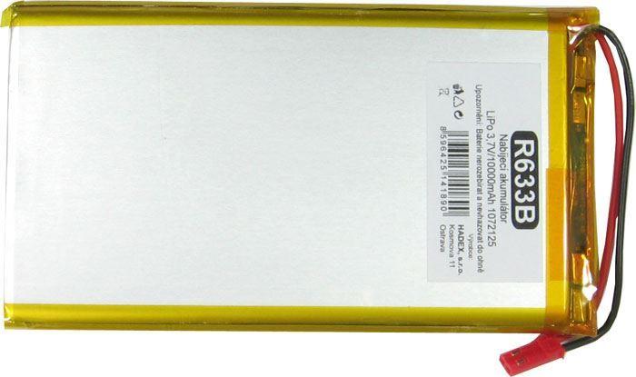 Akumulátor LiPo 3,7V/10000mAh 1072125 /Nabíjecí baterie Li-Pol/