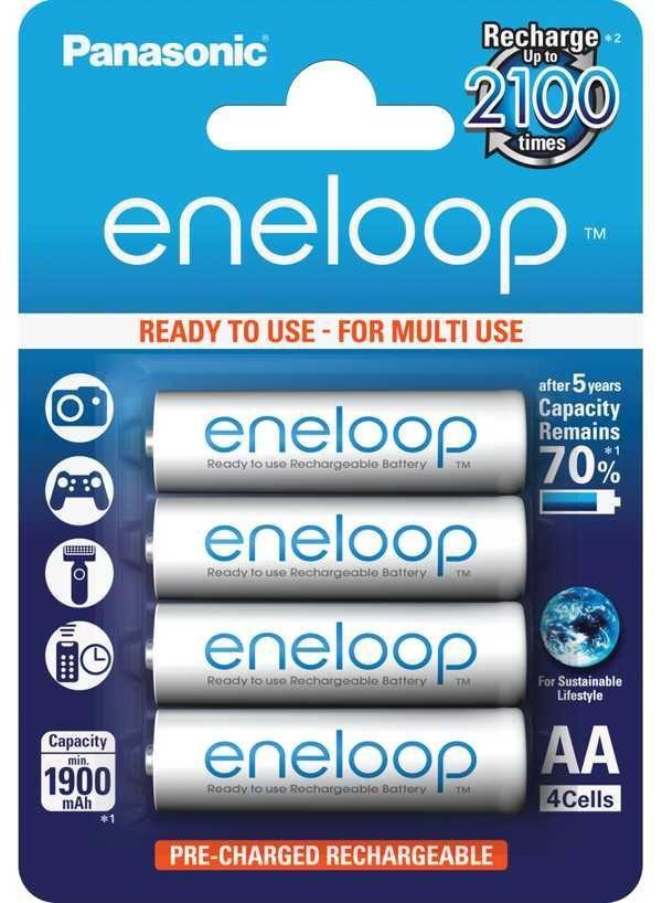Nabíjecí článek  AA 2100c 1,2V/1900mAh - 4ks,baterie 3MCCE/4BE ENELOOP
