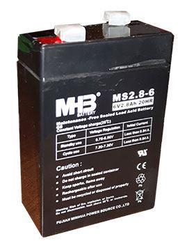Pb akumulátor MHB VRLA AGM 6V/2,8Ah
