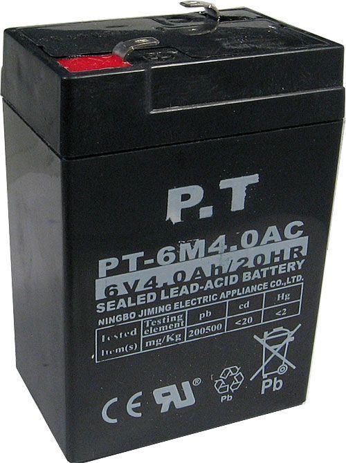 Pb akumulátor P.T VRLA AGM 6V/4Ah